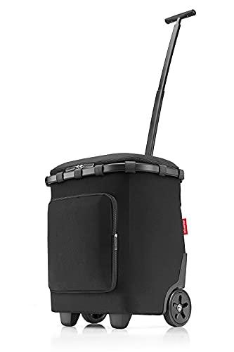 Reisenthel Carrycruiser Plus Einkaufstrolley Frame Black schwarz Polyestergewebe, Aluminiumrahmen, wasserabweisend, ausziehbare Teleskopstange, Volumen: 46 l, Maße: 42 x 52,5 x 32 cm, OF7040