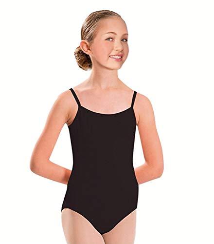 Furein Maillot de Danza Ballet Gimnasia Leotardo Body Clásico Elástico para Niña Sin Mangas Cuello Redondo