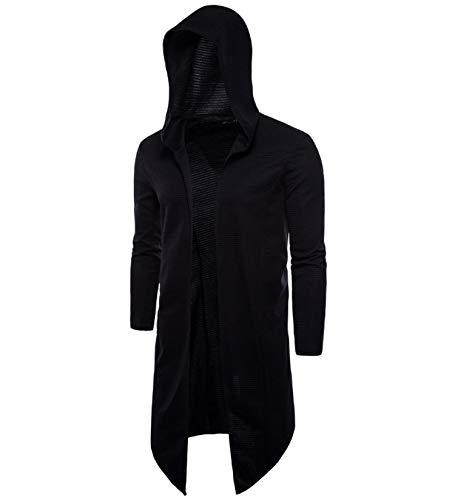 Hathaway-store Spring Hooded Mantel Lange Vest Jas Nieuw Europa en Amerika Lange Windbreaker Mantel Gebreide Trui Grote Maat 5XL