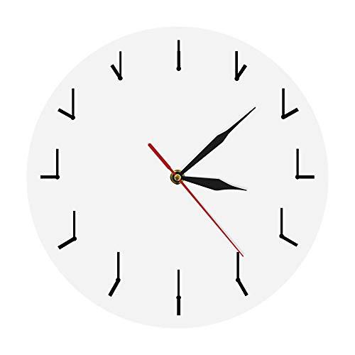 hysxm Une Horloge Murale Simple Et Totalement Redondante Horloge Murale Décorative pour Salon Horloge Redondante De Redondance Art Abstrait, Blanc-10inch