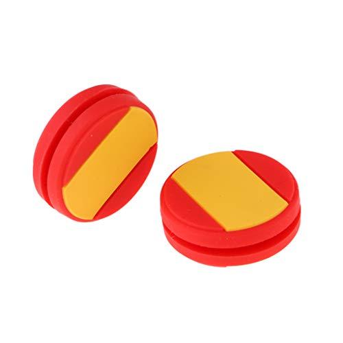 Milageto 2Pcs / Set Raqueta de Tenis de Silicona Amortiguadores de Vibración, Amortiguador a Prueba de Golpes, Raqueta Accesorios Tenis - España, 24x8mm