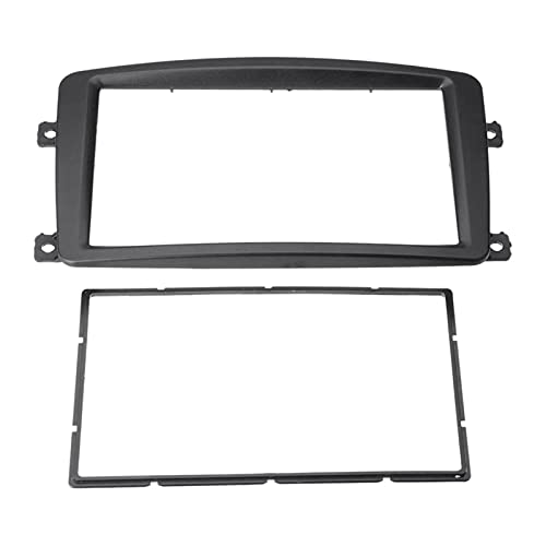 HUAZHUANG-Home 2DIN Coche Estéreo Radio Fascia Panel Marco CD DVD Panel Audio FAMISE para Mercedes Benz C Clase W203 2002-2004 (Color : Black)