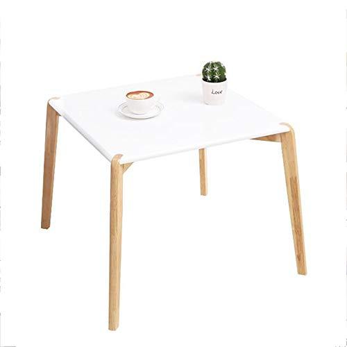 HAIZHEN Tables basses Table d'appoint, table basse en bois massif, table multifonction pour le salon, la chambre à coucher, le balcon, blanc (taille : 55×55×48CM)