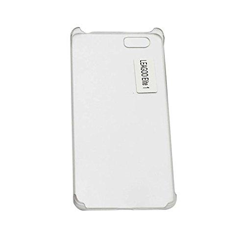 Guran® Plástico Hard Funda Cascara para LEAGOO Elite 1 Smartphone Bumper PC Case Cover-blanco transparente
