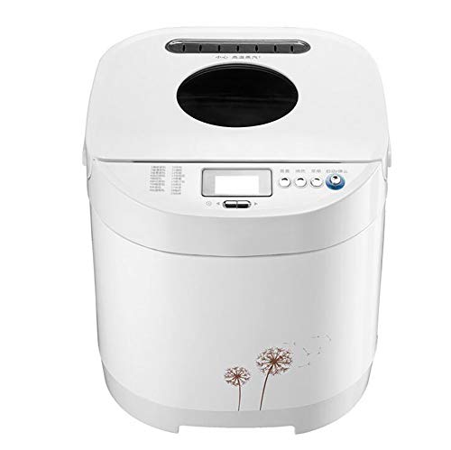 Best Bargain FYLD 650W Automatic Bread Maker,Programmable Bread Maker, LED Display, (21 Programs, Online Recipes, 3 Shell Colors, 13-Hour Appointment, 1-Hour Insulation (305 280 285mm White Dandelion)