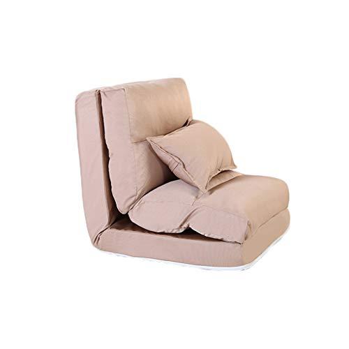 QXX Lazy Sofa Single Sofa Bed Foldable Creative Silla Multifuncional para sofá (Color : Brown)