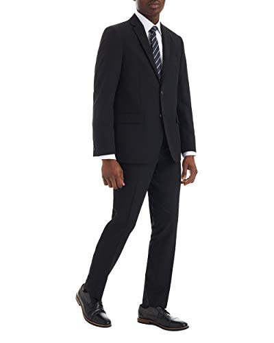 Ben Sherman Mens Modern Fit Suit Separate Pant, Black, 38W X 34L