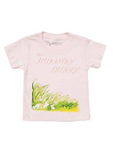 Camiseta infantil com tema literário e livro da Out of Print unissex, The Runaway Bunny, 6-7 Years