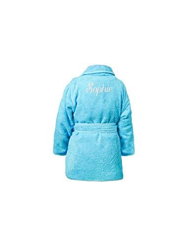 DECOLOOPIO - Albornoz Infantil Personalizado: Azul, 2-4 añ