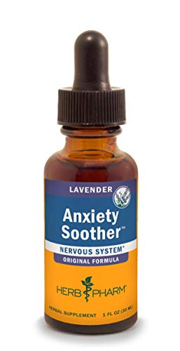 Herb Pharm Anxiety Soother Liquid Herbal Formula with Kava For Nervous System Support - 1 Ounce