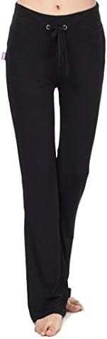 Taille Unique Hippolo Pantalon d/écontract/é droit pour femme avec cordon de serrage pour le yoga et la course /à pied Noir