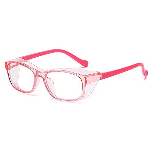 HMMJ Niños Anti Saliva Anti Polen Gafas de Seguridad, Protección UV Niños Niñas Gafas de Silicona con luz Protectora con Protector Lateral para niños de 4 a 10 años (Color : Pink)