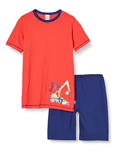 Schiesser Jungen Boys World Kn Kurz Zweiteiliger Schlafanzug, Rot (rot 500), 98 (Herstellergröße:098)