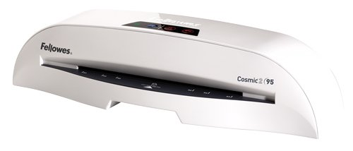 Fellowes Laminator Cosmic 2 95, 9.5 Inch Laminating Machine, with Laminating Pouches Kit (5725601),White