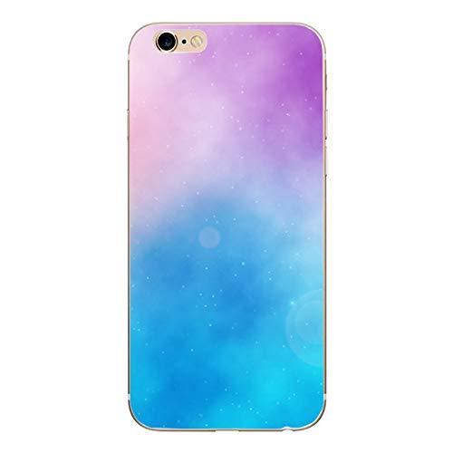 XMCJ Funda para iPhone X 5, 5S, 6, 6S, 7, 8 Plus, X, XS Max XR, funda de TPU suave para iPhone 7 SE, funda de teléfono (color: azul marino, material: para iPhone 6 y 6S)