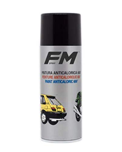 FM Spray Pintura ANTICALÓRICA Negra 600º Satinada, 400ML