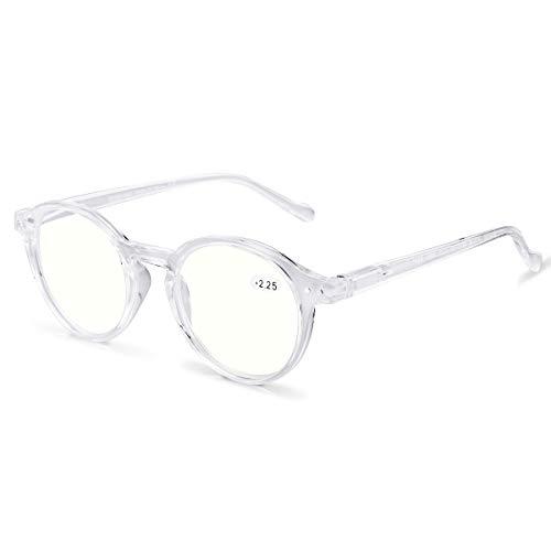 ZENOTTIC Gafas de Lectura de Bloqueo de Luz Azul Lentes Antirreflejos Gafas Retro de Ligero Marco Redondo para Hombres y Mujeres (Cristal, 0.00x)