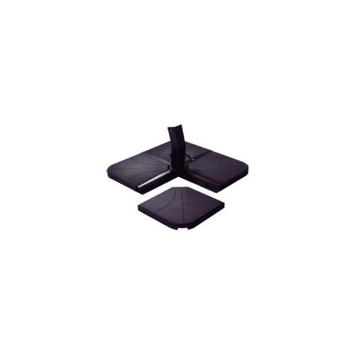 Base Sombrilla Vette de hormigón placa negra kg.25 Vette