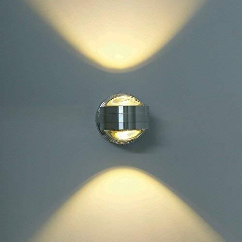 ETiME LED Wandleuchte innen Wandlampe Flurlampe Treppenleuchten Deckenleuchte up down effekt 6W (6W warmweiss Kugel)
