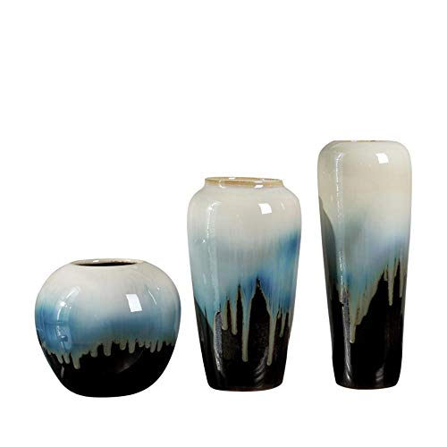 TELMU Retro Keramik Vase Foreign Jingdezhen Boden C Große Dekoration Dreiteilige