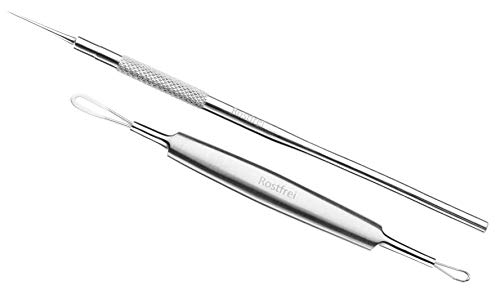 Schwertkrone Milienmesser Mitesseröffner Milienöffner Komedonenquetscher/Aknebehandlung Profiqualität Edelstahl