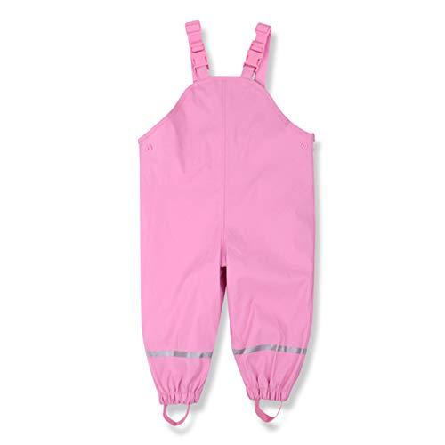 Pantalones Impermeables Pantalones Impermeables Pantalones con Tirantes para un Viaje al Parque en Primavera Verano (Rosa, 12M/24M)
