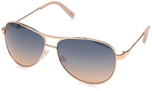 Jessica Simpson Women's J106 Aviator Sunglasses, ROSE GOLD, 60 mm