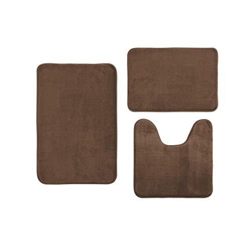 86XH Bathroom mat Coral velvet memory cotton mat bathroom absorbent non-slip carpet 3 pcs/set high quakity bath mats 2019 PinBaiYa (Color : 7)