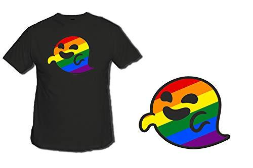 MERCHANDMANIA Camiseta Negra GAYSPER Fantasma Gay VOX Tshirt