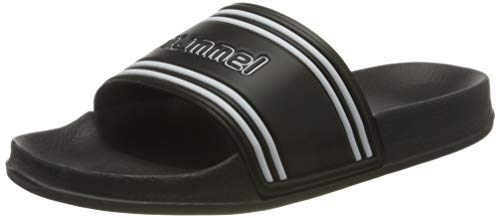 Hummel Pool Slide Retro, Zapatos de Playa y Piscina Unisex Adulto, Negro (Black 2001), 45 EU