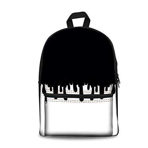 Shoulder School Bag Men and Women Milk Pattern Printed Simple Travel Backpack Schoolbag Alg3665j 16 Inch