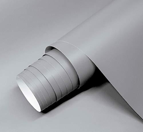 Vinilo Gris Mate Autoadhesivo Para Muebles Tamaño 60x120 cm Combina Colores Blanco Negro Grises Oro Plata Papel Autoadhesivo Para Paredes Cristales Manualidades (GRIS)