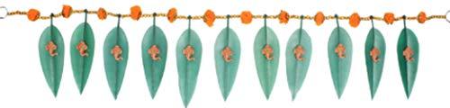 DEVIKA: Asopalav Mango Leaf met Ganesha N Goudsbloem, Versier uw Deur Gift een Toran Decor Toran Deur Valance Home Decoraties Geschenkverpakking T6