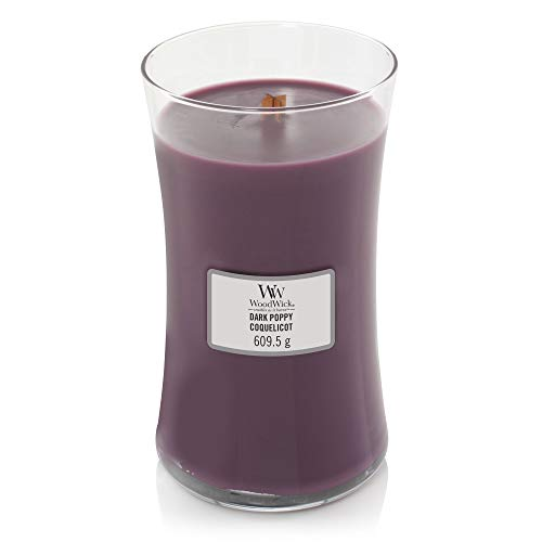 Woodwick Large Dark Poppy Scented Candle