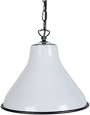 Tosel 15700 Toselia 3-Lampada a sospensione in lamiera di acciaio zigrinato,/metallo, vernice epossidica, colore: bianco, dimensioni: 700 x 310 mm
