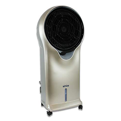 White - Rinfrescatore ad Acqua, Raffrescatore Evaporativo, Condizionatore Pinguino Climatizzatore senza unità esterna. Display Led, Senza tubo esterno, Basso Consumo
