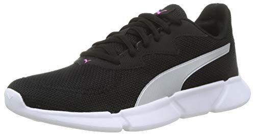 PUMA INTERFLEX Runner, Scarpe da Corsa Unisex Adulto, Nero Black-Metallic Silver-Luminous Pink, 45 EU