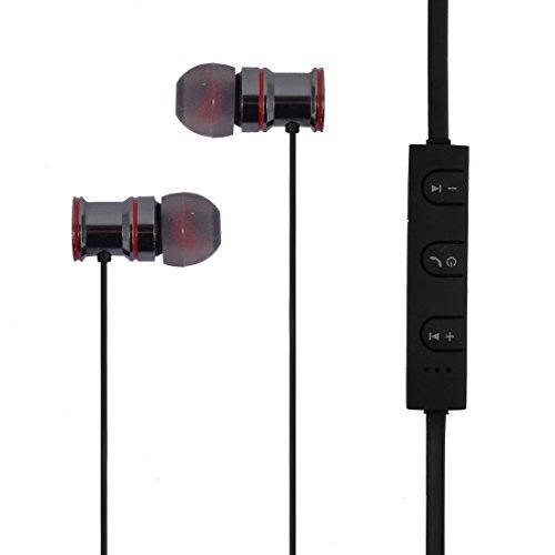 DealMux Stereo Sound bluetooth Earphone In-Ear Headset Sports Earbud Ear Bud Black