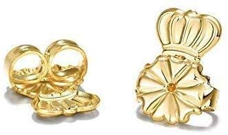 XINTIAN Earrings Lifters gold silver earring hypoallergenic back support fits all earrings box earrings lifts back earrings (Color : 2, Size : 14mm)