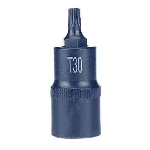 Herramienta de punta de destornillador 1/2 Puntas de vaso T20 T25 T27 T30 T35 T40 T45 T50 T55 T60 T70 Juego de herramientas de mano de toma de impulsión T30