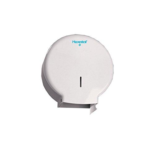 HEXOTOL AE51000 Jumbo-Dispenser di Carta igienica, in plastica, Colore: Bianco, Plastica, Bianco, 12.6x27x27.4 cm Mini