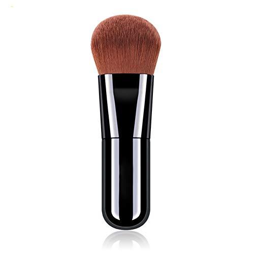 Beito 1 PC Couverture Complète Fondation Maquillage Pinceau Plat Kabuki Pinceau Crème Liquide Poudre Applicateur Cosmétiques Mélange Brosse Douce Synthétique Brosses(Noir)