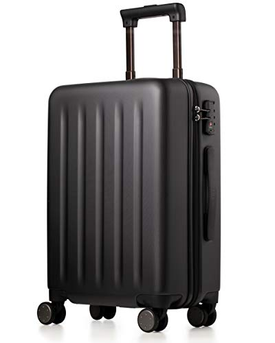 Carry On Luggage Spinner Wheel, Hardside NinetyGo Lightweight Hardshell TSA Compliant Suitcase (Black)