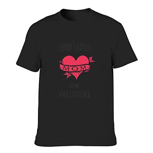 FFanClassic Camiseta de algodón para hombre con texto en inglés 'Sorry Girls' y texto en inglés 'My Mom is My Valentine', manga corta