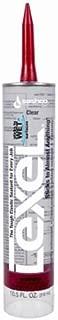 Sashco 13010 10.5oz Sashco Sealants Clear Lexel Adhesive Caulk, 10.5-Ounce