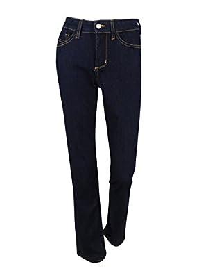 NYDJ Women's Plus Size Marilyn Straight Leg Jeans, Dark Enzyme, 14W