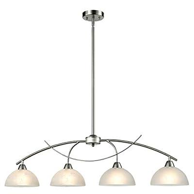 Dazhuan Vintage Frosted Glass Pendant Lights Chandelier Hanging Ceiling Lighting Fixtures