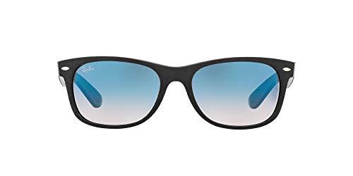 Ray-Ban 2132, Gafas de Sol Unisex, Multicolor (Black/Top Black Alcantara), 55 mm