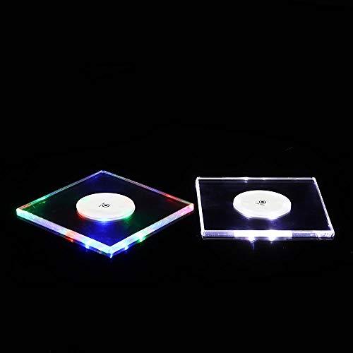 CaoQuanBaiHuoDian onderzetter LED-nachtlampje kleur flessenschaal matten-stickers vereniging-cocktailparty-oplegger-houder-ruimte cup-pad mat compacte afmetingen en duurzaamheid