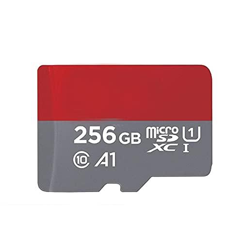 Scheda di memoria Ultra microSDXC UHS-I da 256 GB, 100 MB/s, C10, U1, Full HD, compatibile con Nintendo Switch Neon Videogioco Bundle con (1) lettore di schede di memoria Everything But Stromboli